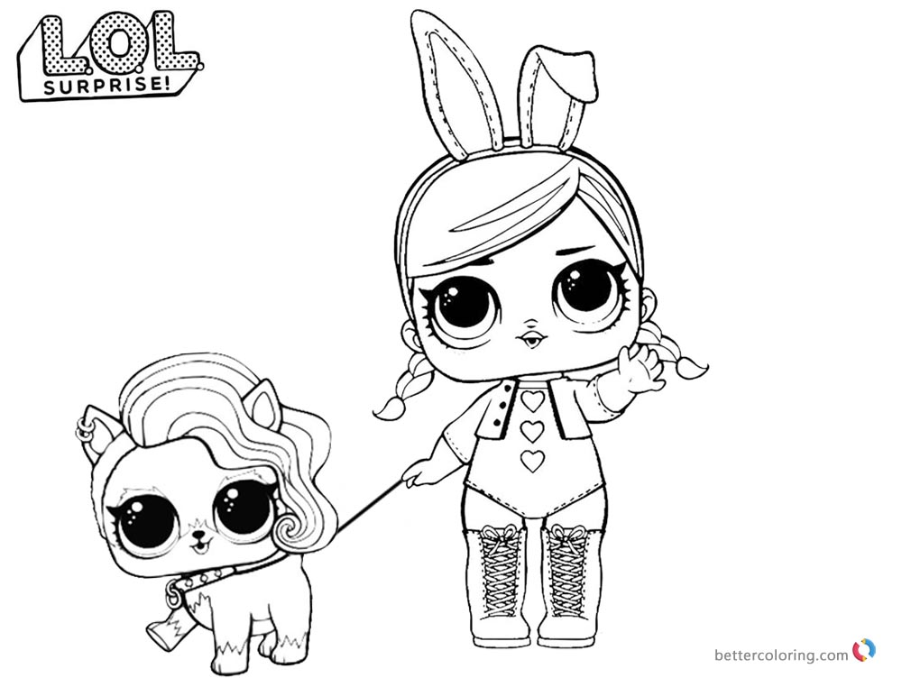 Lol Surprise Dolls Colouring Pages