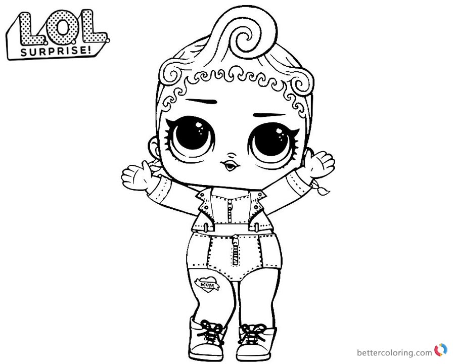 LOL Surprise Coloring Pages Pink Baby Free Printable