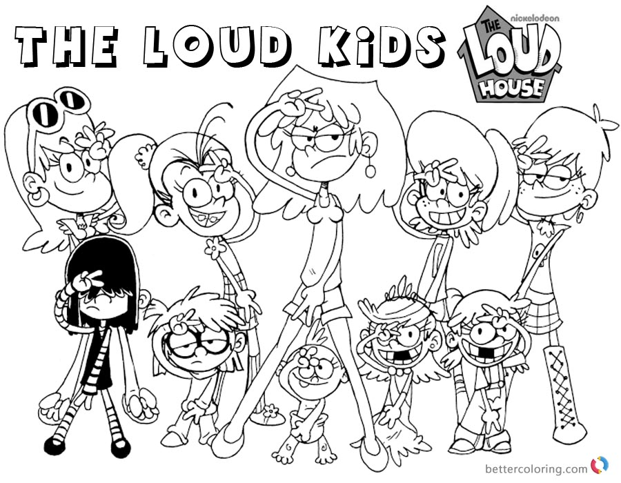 Loud House Coloring Sheets Printable
