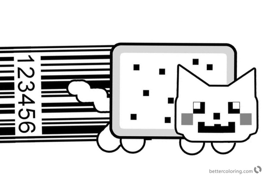 nyan cat coloring pages upc artkayfriday  free