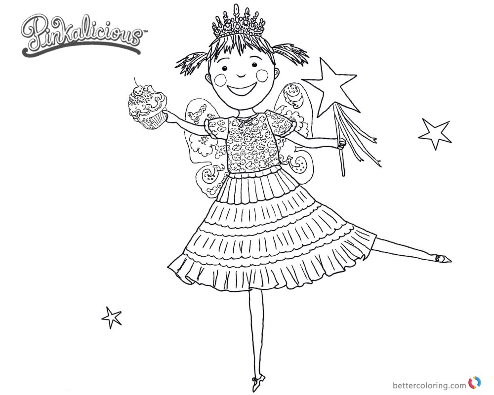 Pinkalicious Coloring Pages Dancing Drawing Free