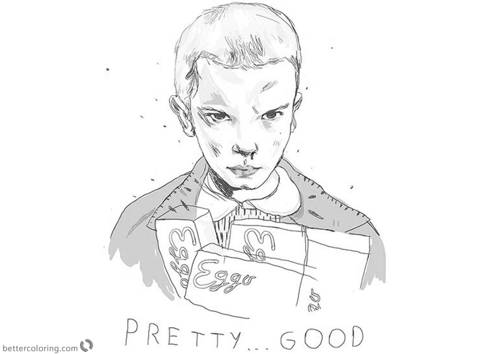 Stranger Things Coloring Pages Eleven Fan Art By