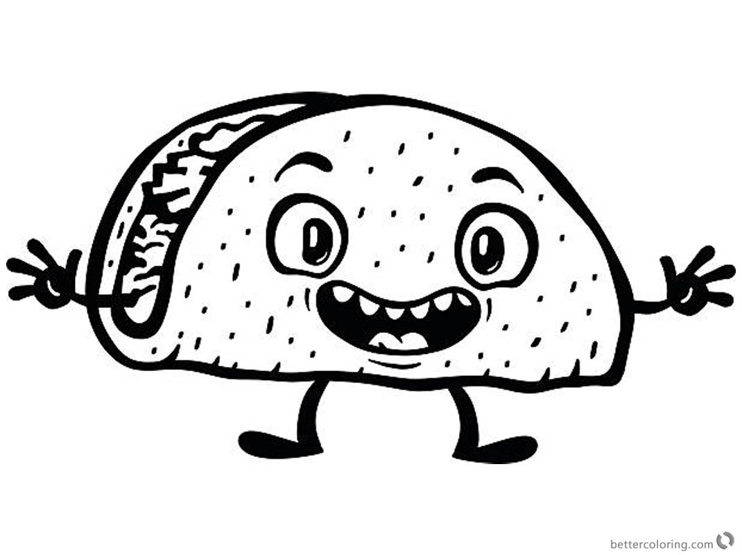 Taco Coloring Page Surprise Taco Picture