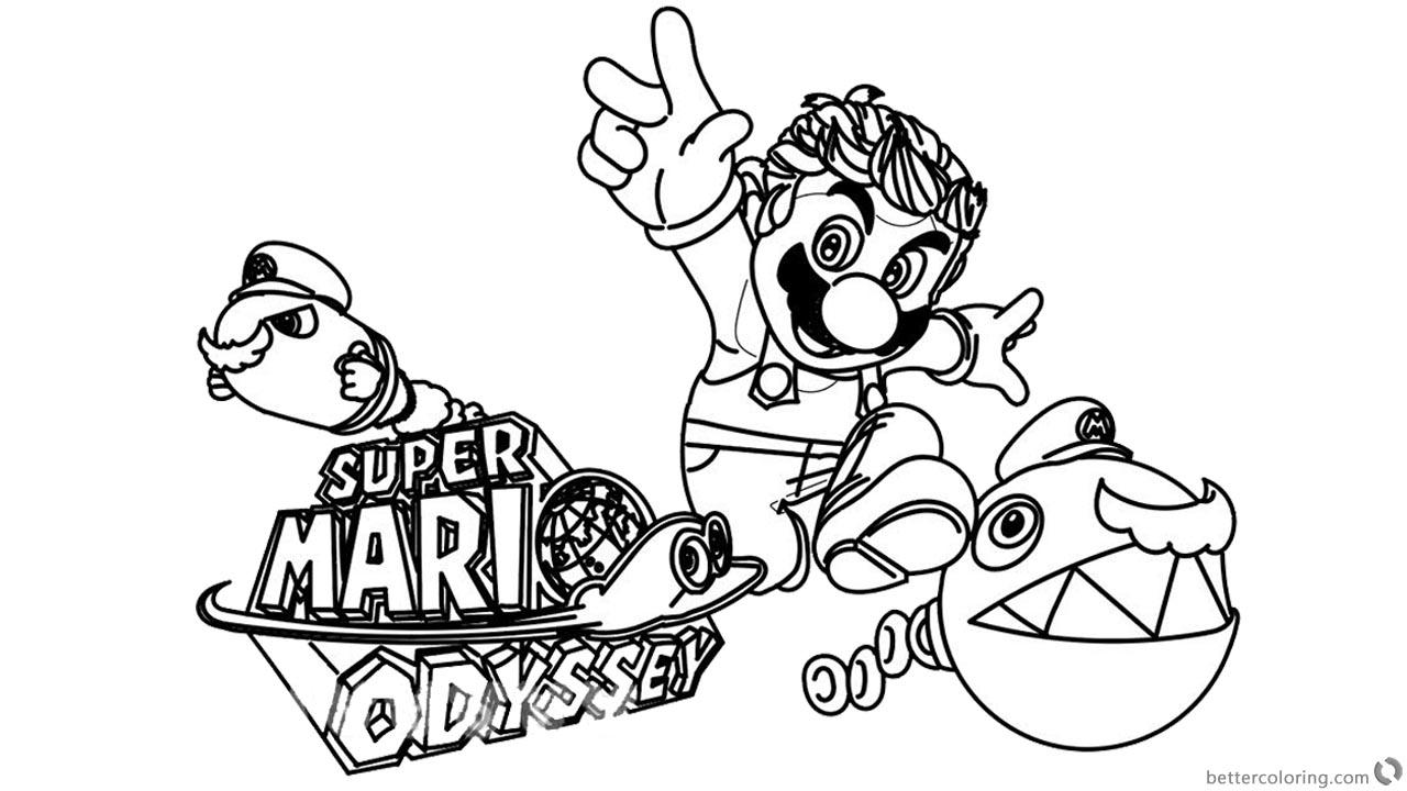 Coloring Mario Odyssey Mario