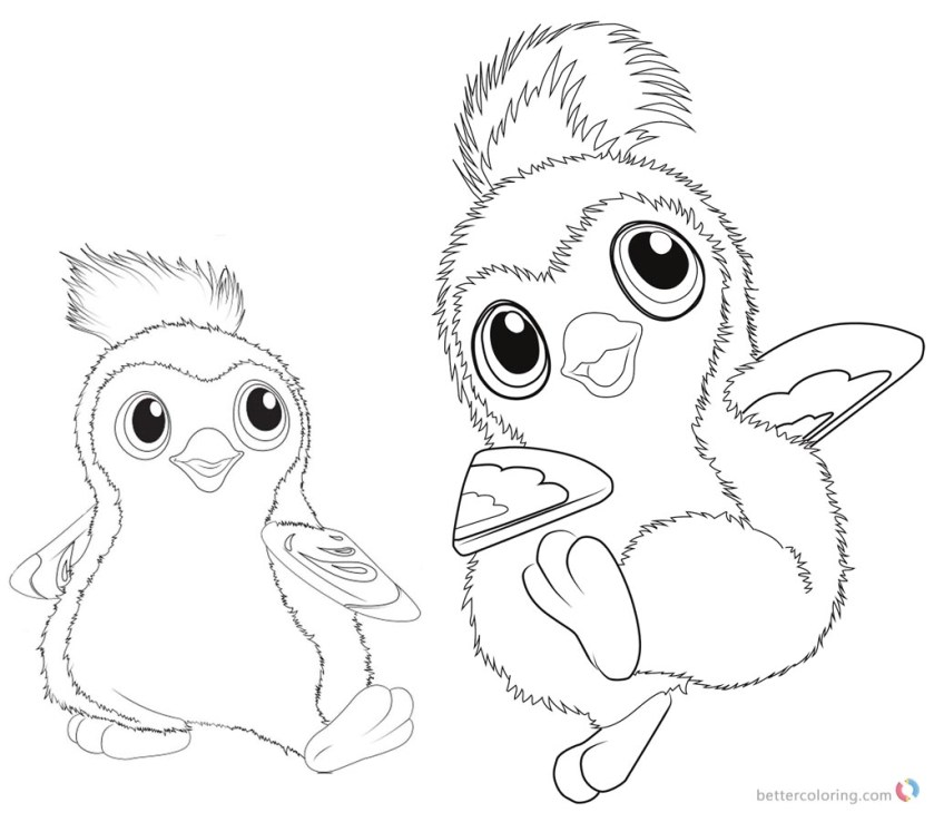 hatchimals coloring pages cute pengualas  free printable