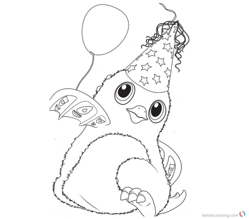 hatchimals coloring pages happy christmas  free printable