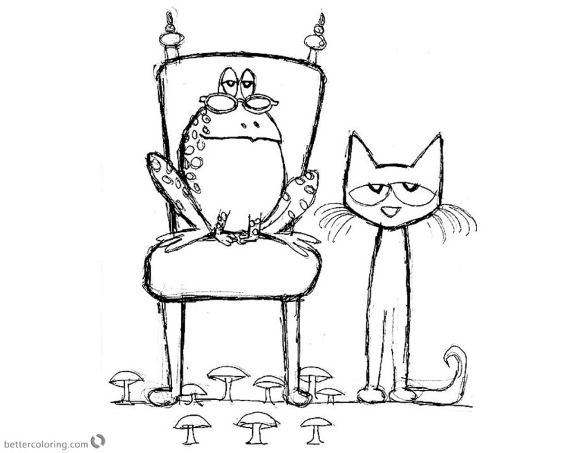 pete the cat coloring pages fan art  frog  free