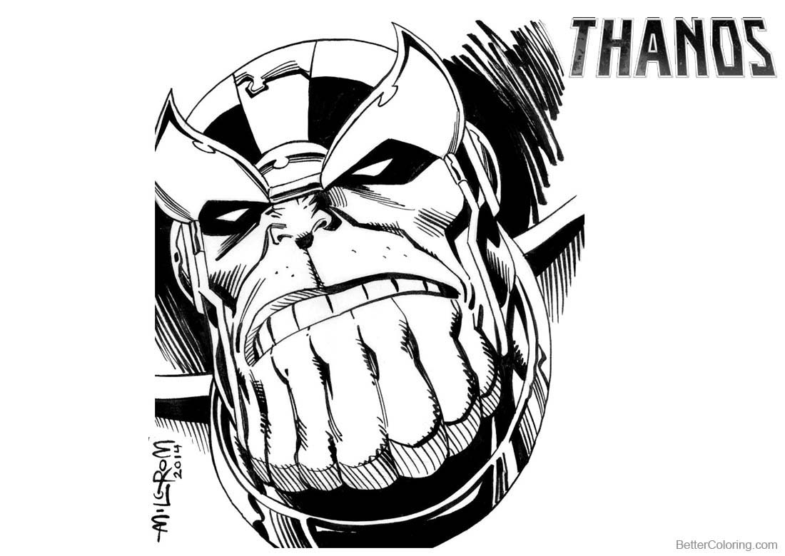Thanos Coloring Pages By Al Milgrom Free Printable