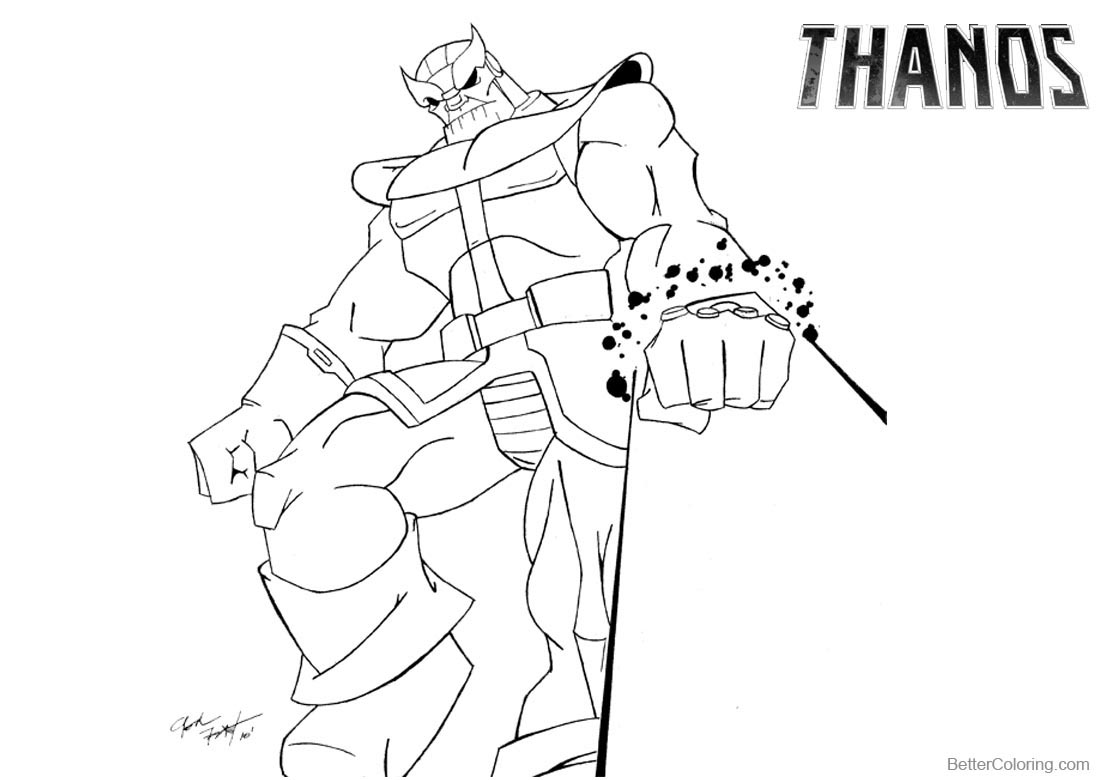 Thanos Coloring Pages By Josh Frost Free Printable