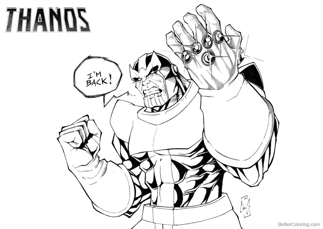 Avengers Infinity War Infinity Gauntlet Coloring Page