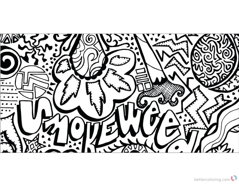 Weed Coloring Pages Tattoos Free Printable Coloring Pages