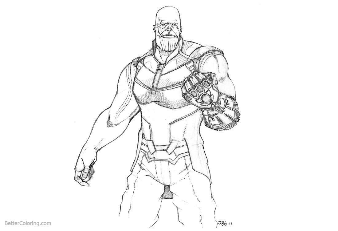 Amazing Free Coloring Pages Download : Avengers Infinity War Coloring Pages Thanos  Fanart Free Printable Of Avengers