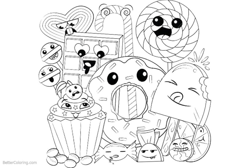 garbi food coloring pages kawaii coloring pages