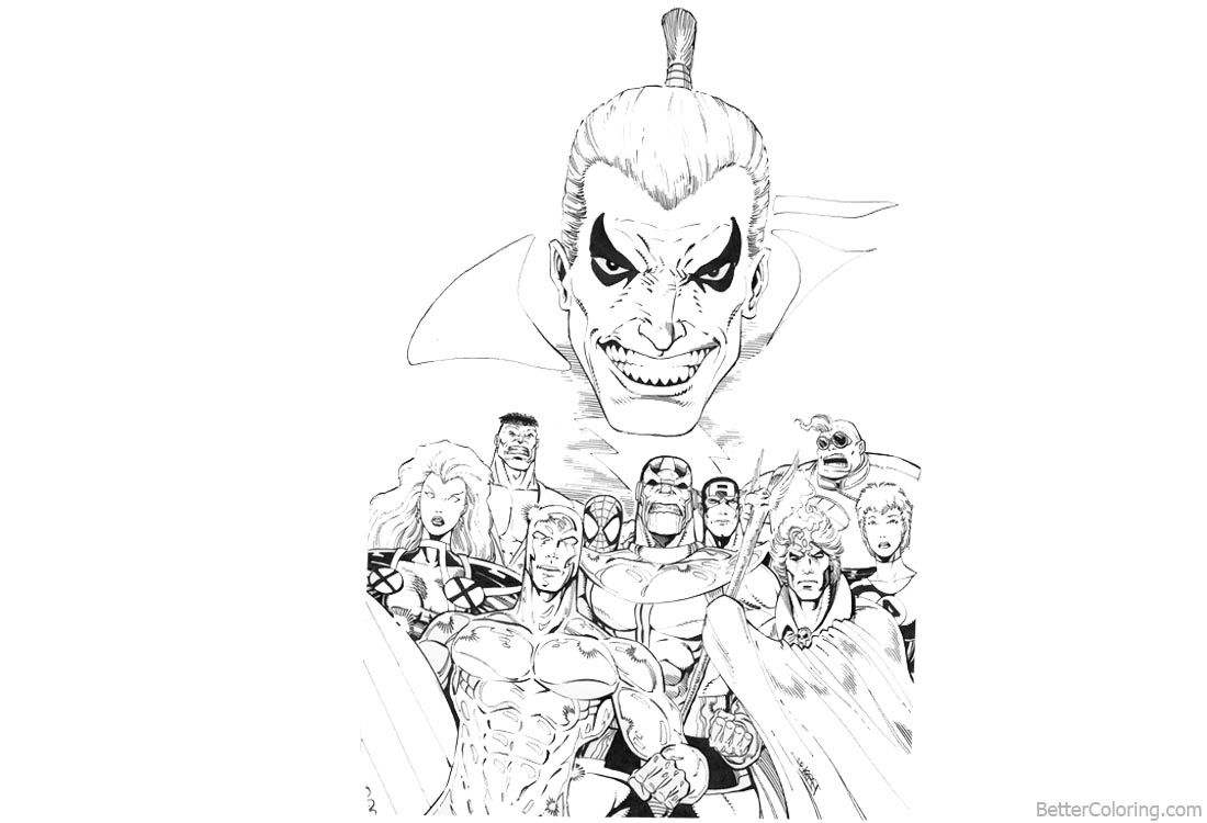 Marvel Avengers Infinity War Coloring Pages Characters