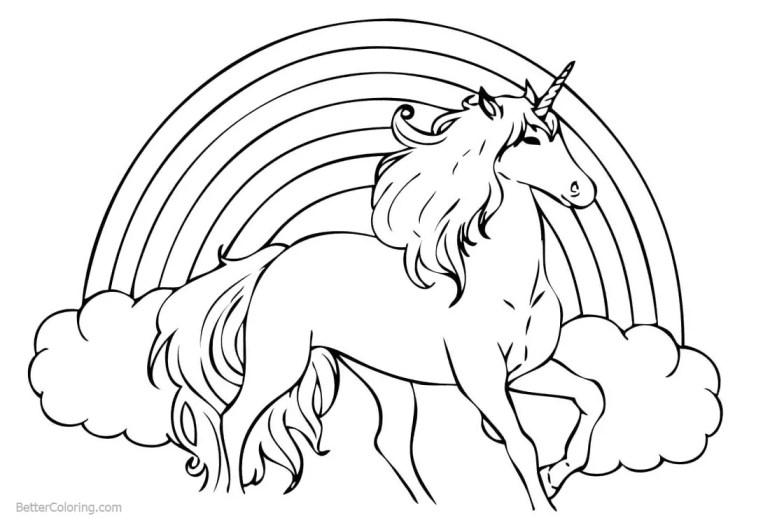 Rainbow Unicorn Coloring Pages - Free Printable Coloring Pages | free printable coloring pages unicorn rainbow