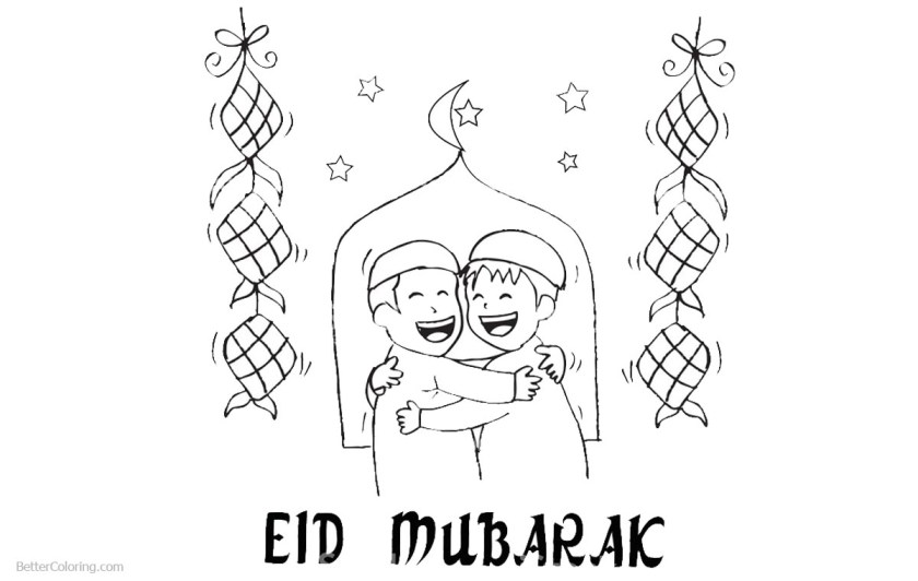 ramadan coloring pages line drawing  free printable