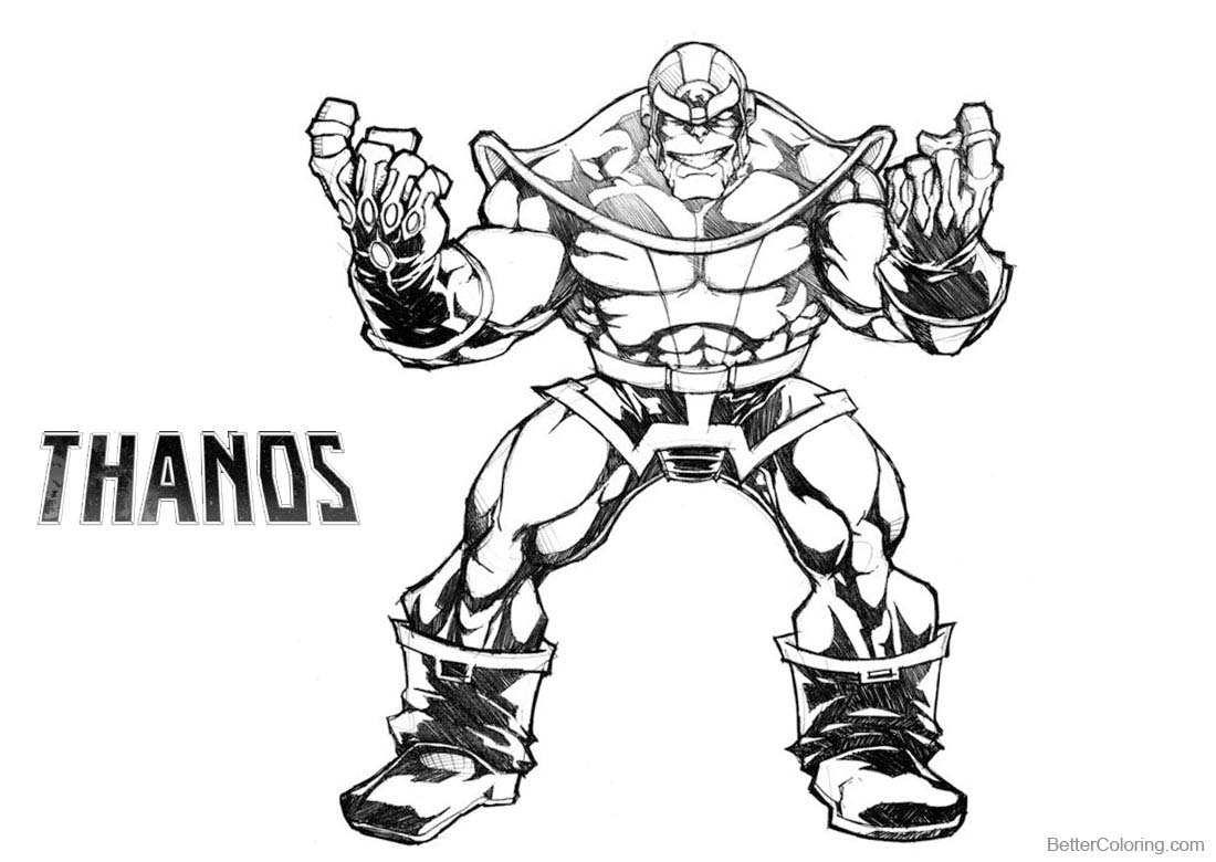 Best Thanos Coloring Pages Sketch Free Printable Coloring