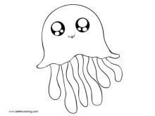 Jellyfish Coloring Sheets Printable