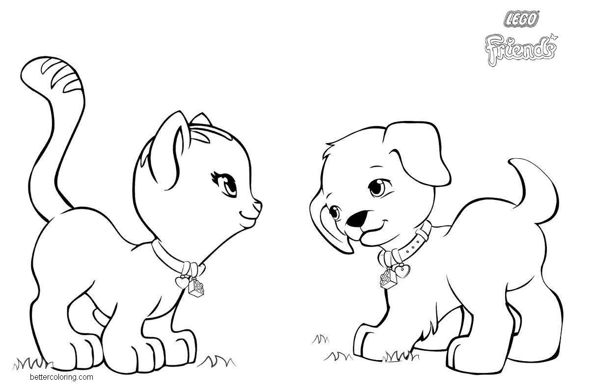 Lego Friends Pets Coloring Pages