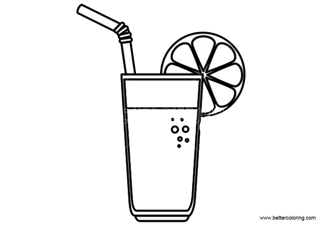 Lemonade Coloring Pages Fruit Jucice