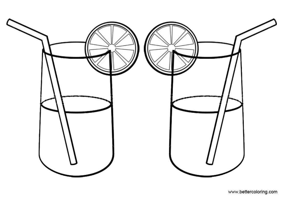 Lemonade Coloring Pages Simple Drawing