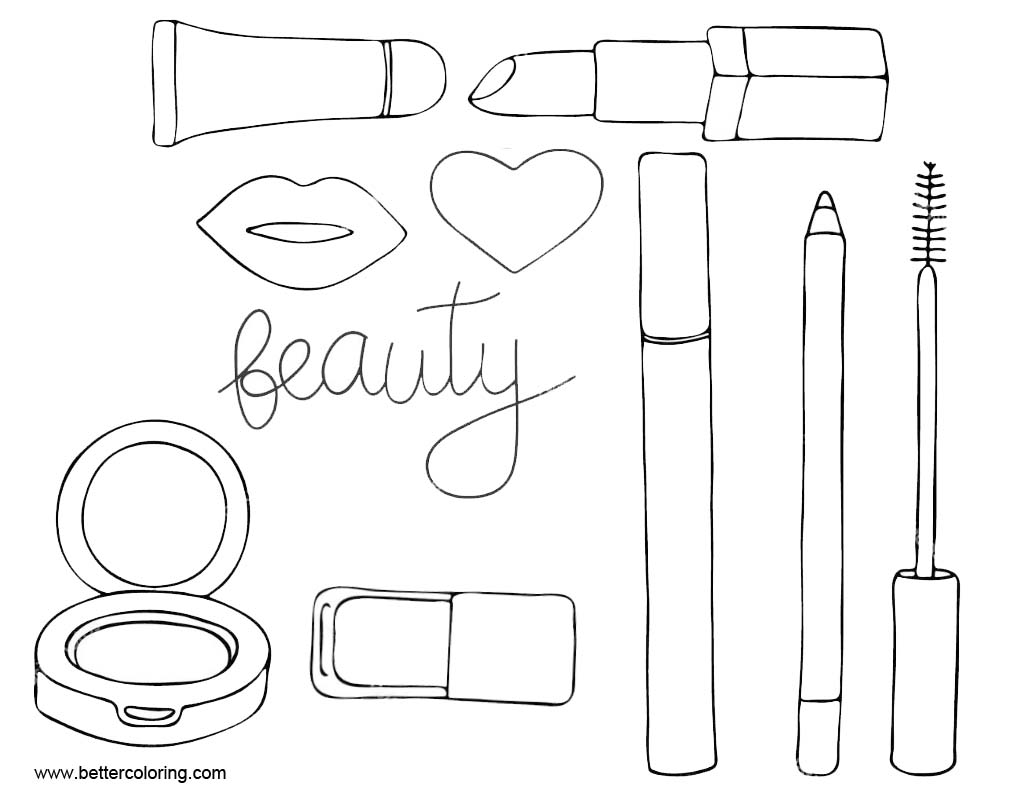 Detailed Pages Eye Makeup Coloring Pages