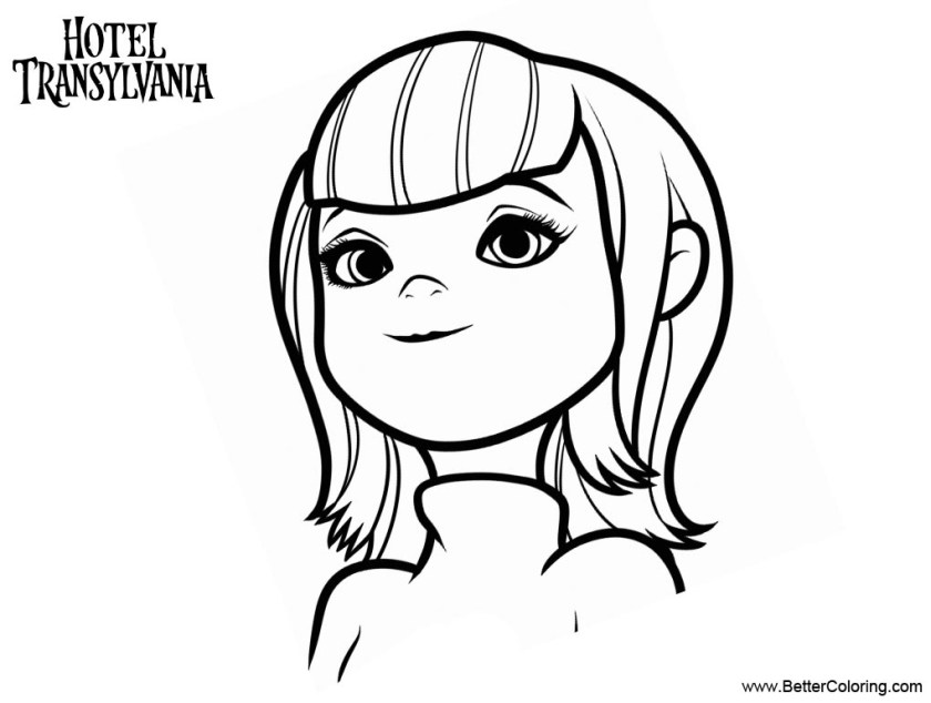 mavis from hotel transylvania coloring pages  free