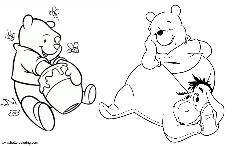 Winnie The Pooh Eeyore Coloring Pages