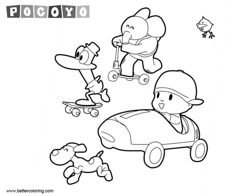 pocoyo pages online coloring pages