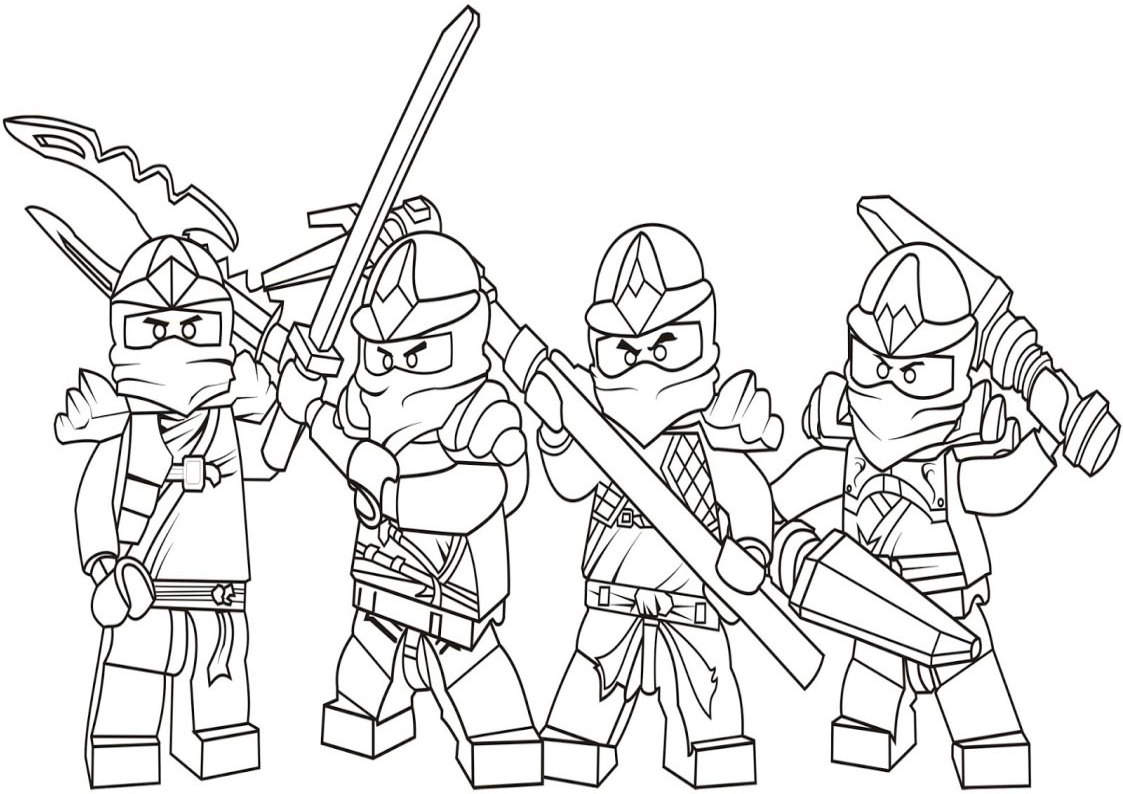 Printable Lego Ninjago Coloring Pages Worksheet