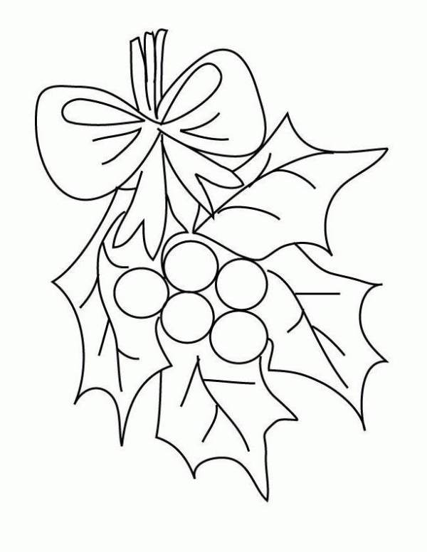 mistletoe coloring pages # 43