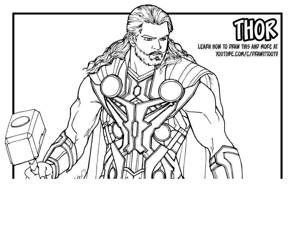Os Vingadores Desenho Para Colorir Thor Desenhos Para