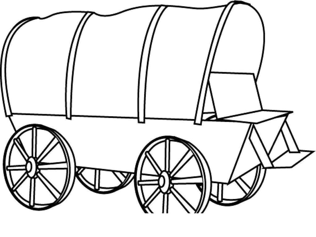 Chuck Wagon Colouring Pages Covered Coloring Sketch