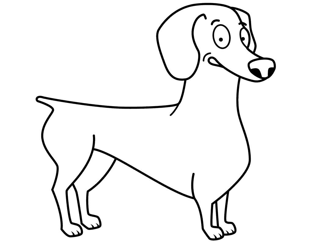 Dachshund Coloring Pages Funny For Boys