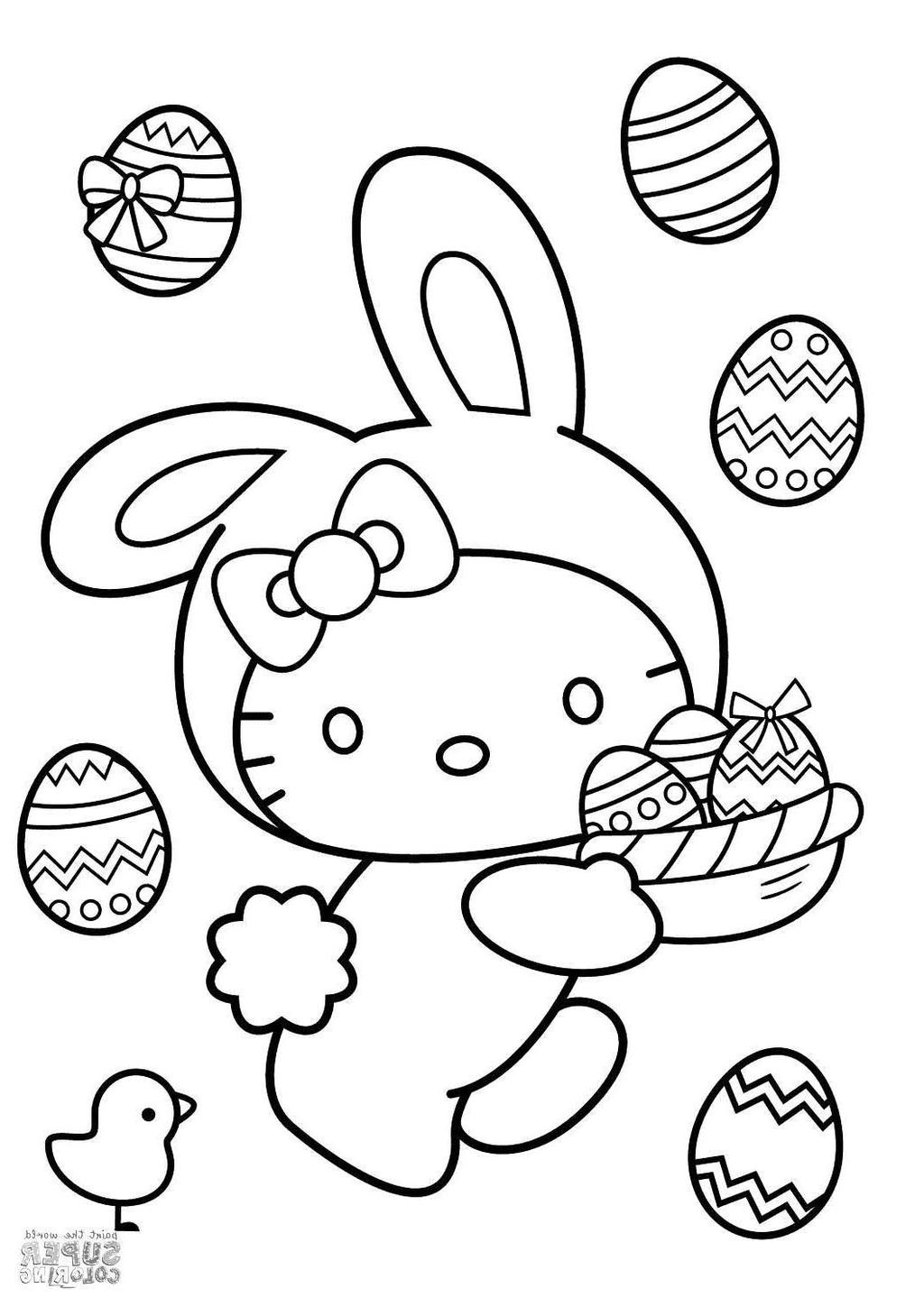 Easter Bunny Coloring Pages Activity
