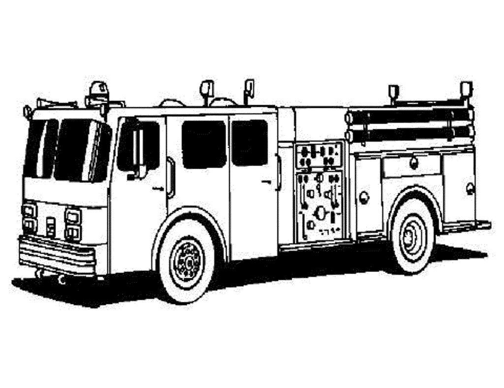 Fire Truck Coloring Pages High Activity
