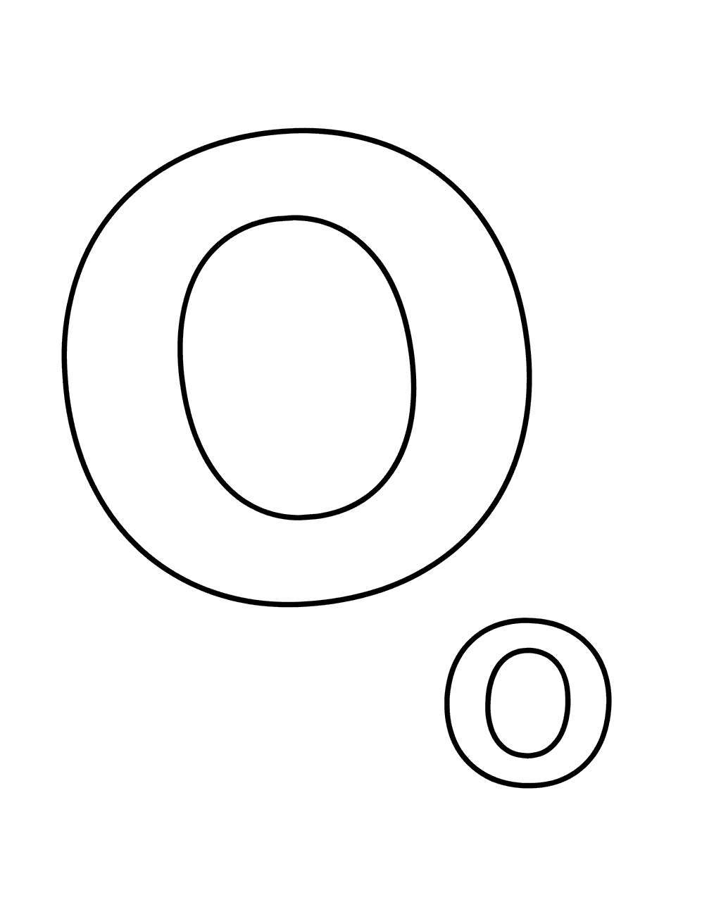 Letter O Coloring Pages Create A