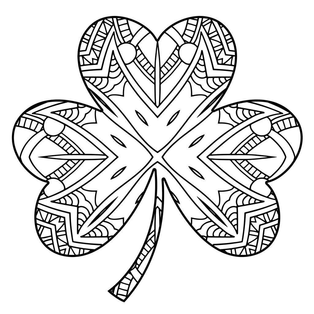 Shamrock Coloring Pages 173 For Girls
