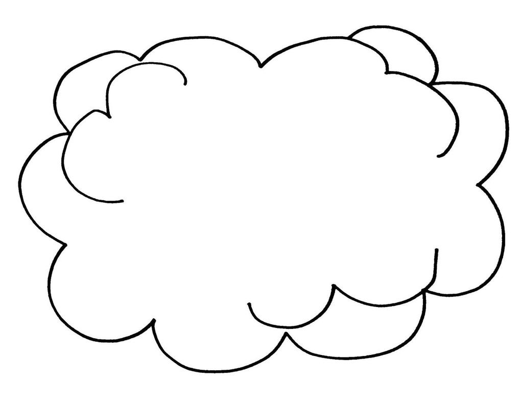 Sun And Clouds Coloring Pages Cloud Kids For Toddlers