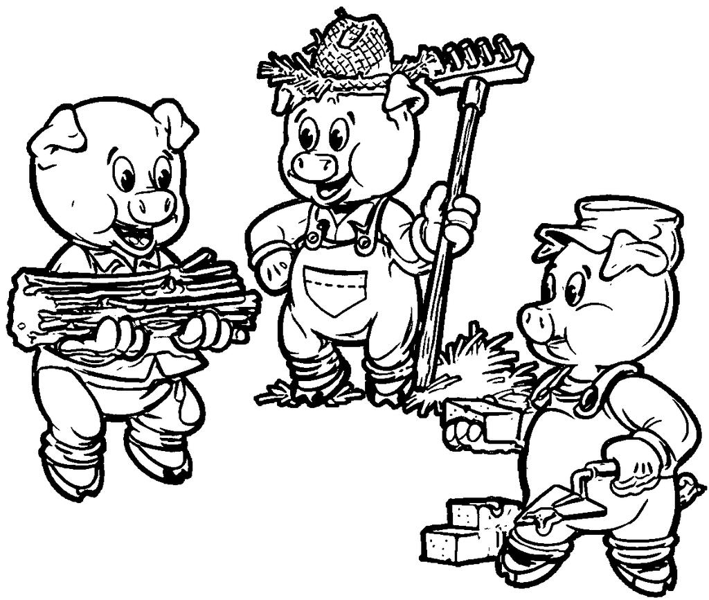 Three Little Pigs Coloring Pages Ethicstech Org