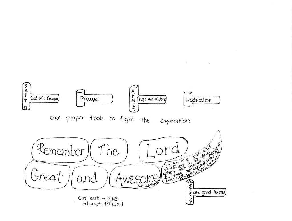 Nehemiah Builds The Wall Coloring Page