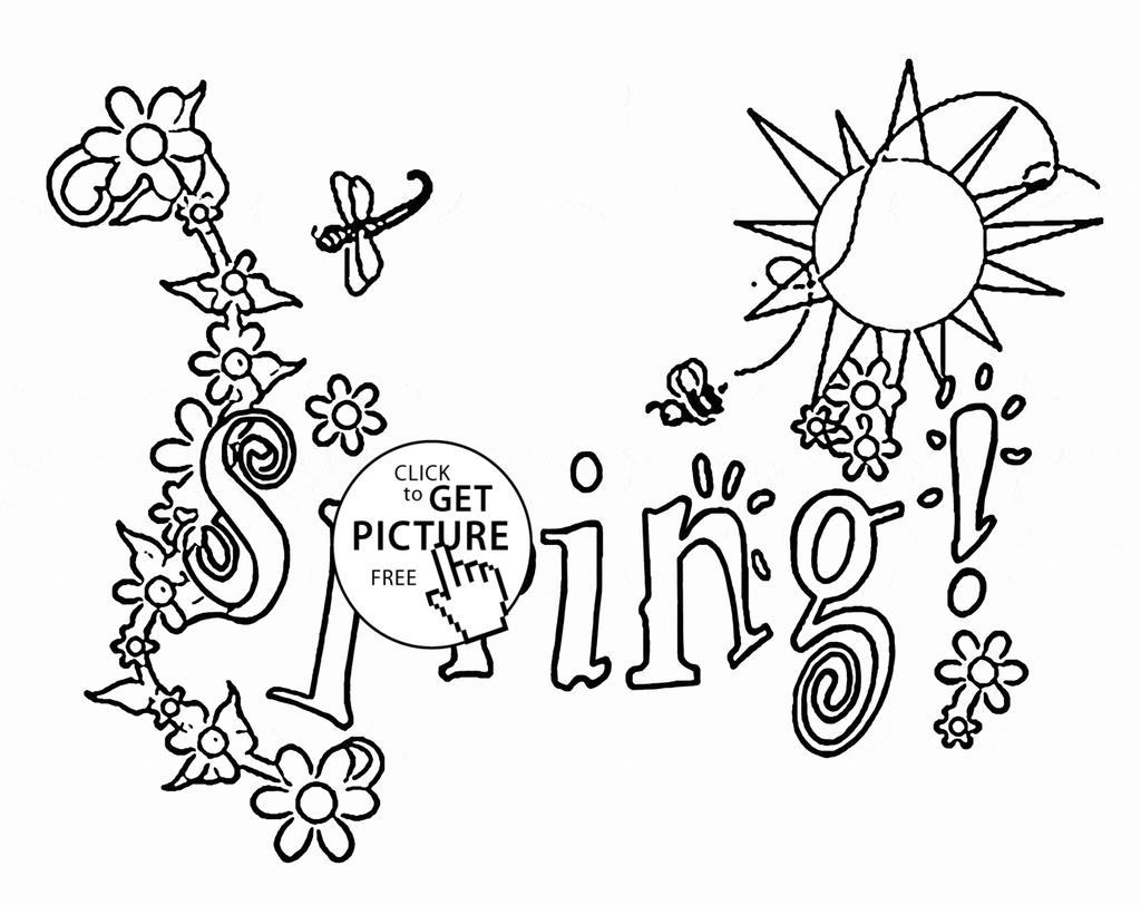 Seasons Coloring Pages Maple Tree