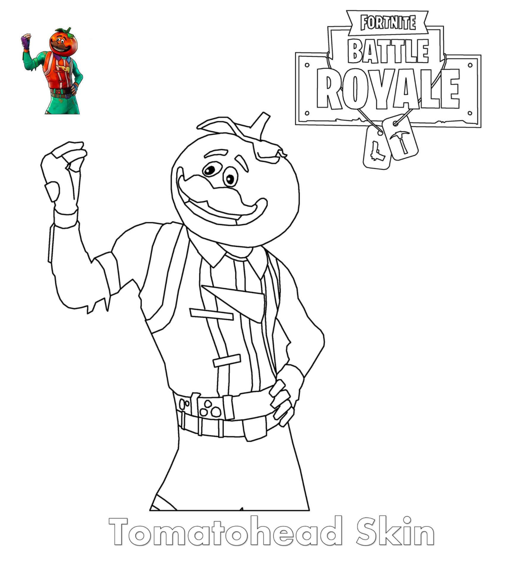 Easy Fortnite Coloring Printable