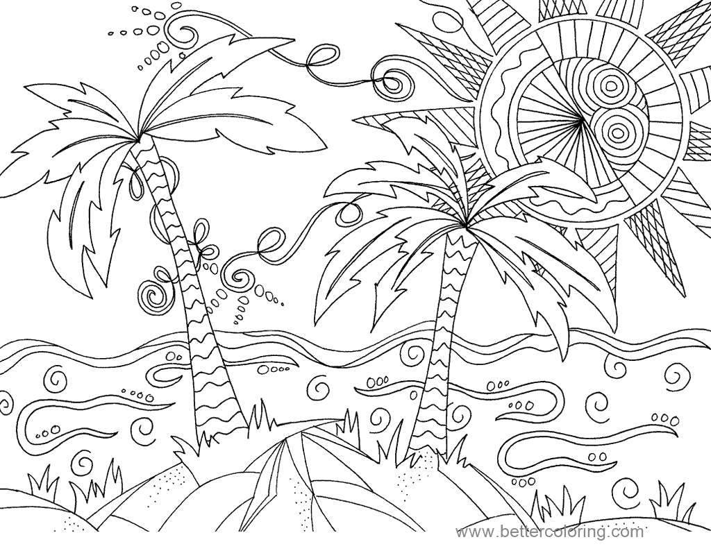 Awesome Summertime Coloring Pages Sun Online