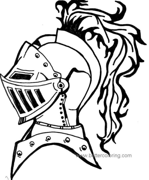 knight coloring page # 44