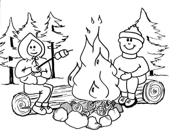 camping coloring page # 38