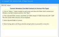 RecoveryTools Windows Live Mail Contacts Migrator crack