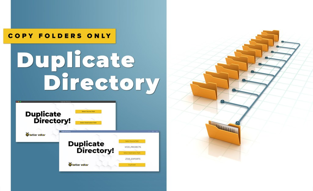 How to Copy a Folder Structure Without Files