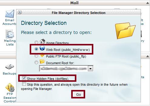 how to show hidden files in ssh