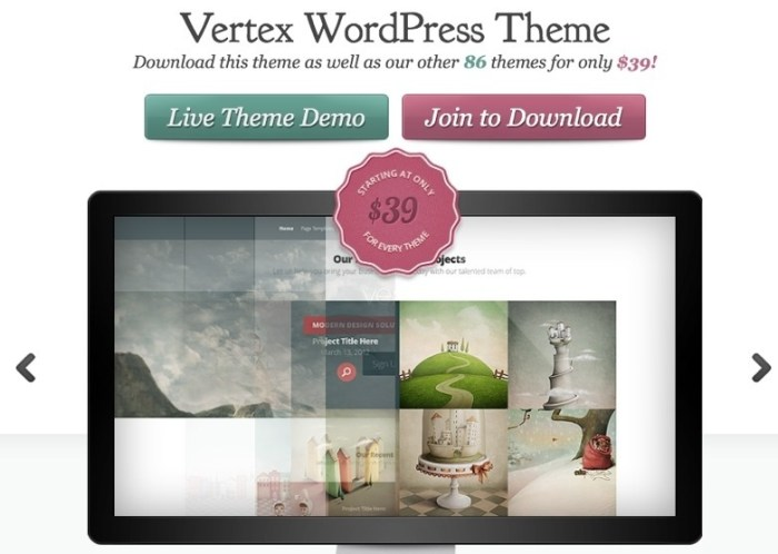 WordPress theme for business to showcase products services